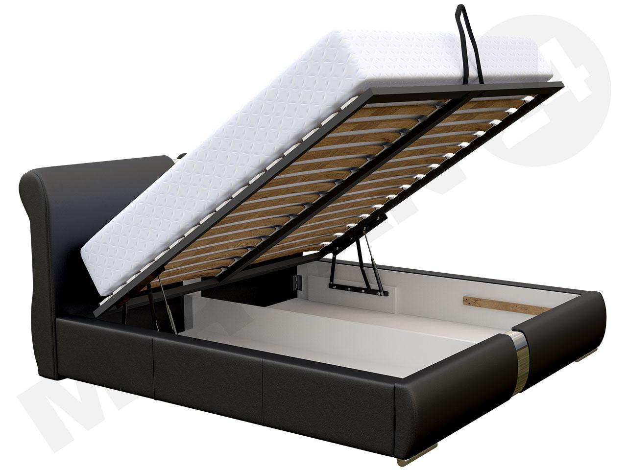 pojemnik na pościel łóżka tapicerowanego