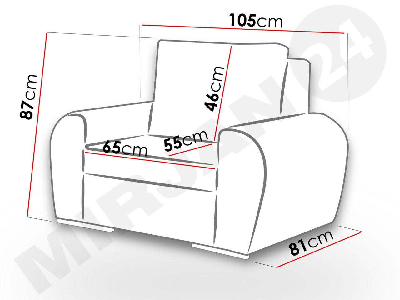 Fotel do salonu Zeus