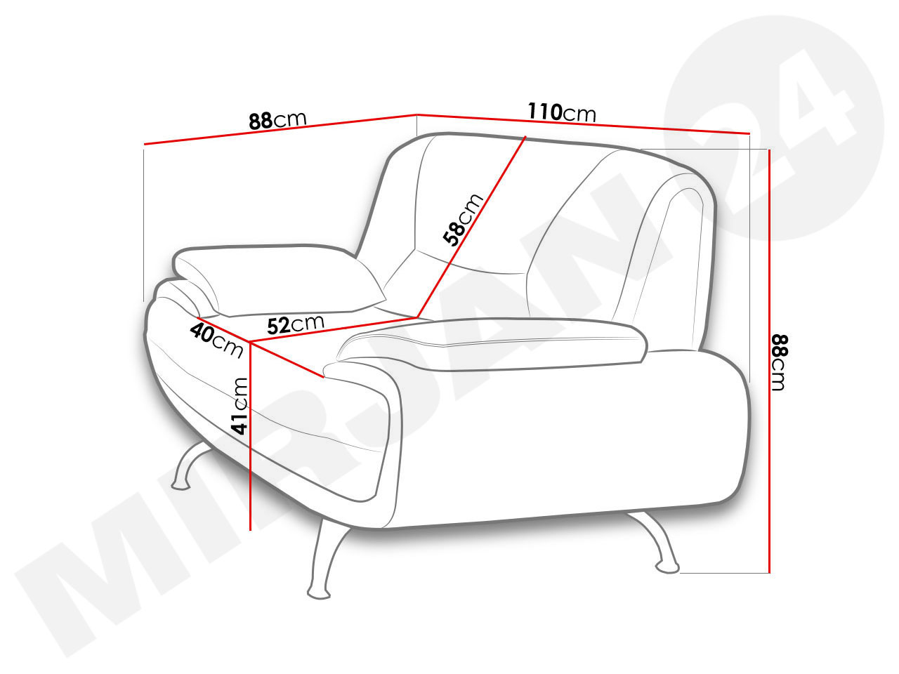 Fotel do salonu Pascal 1